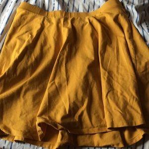 Forever 21 yellow skirt